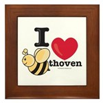 I Love BEEthoven Framed Tile