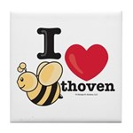 I Love BEEthoven Tile Coaster