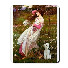 Windflowers/Bedlington T Mousepad