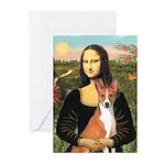Mona Lisa - Basenji Greeting Cards (Pk of 20)
