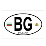 Bulgaria Euro Oval Postcards (Package of 8)