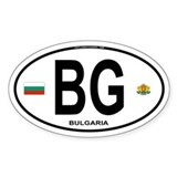 Bulgaria Euro Oval Oval Decal
