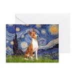 Starry Night & Basenji Greeting Cards (Pk of 20)