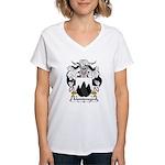 Montenegro Family Crest Women's V-Neck T-Shirt