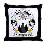 Montenegro Family Crest Throw Pillow