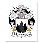 Montenegro Family Crest Small Poster