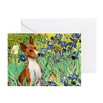 Basenji in Irises Greeting Cards (Pk of 20)
