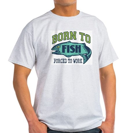 Fishing Ash Grey T-Shirt