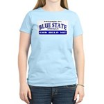 Blue State Prisoner Women's Pink T-Shirt