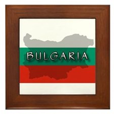Bulgaria Flag Extra Framed Tile