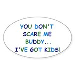 PARENTING HUMOR Oval Sticker