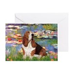 Lilies & Basse Greeting Card