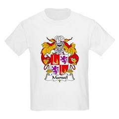 Manuel Family Crest Kids Light T-Shirt