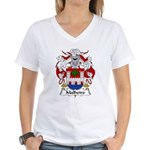 Malheiro Family Crest Women's V-Neck T-Shirt