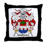 Malheiro Family Crest Throw Pillow