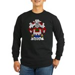 Malheiro Family Crest Long Sleeve Dark T-Shirt