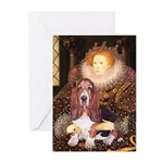 Queen & Basset Greeting Cards (Pk of 20)