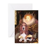 Queen & Basset Greeting Card