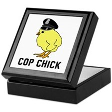 Cop Chick Keepsake Box