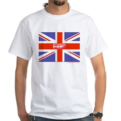 British Caravan Flag White T-Shirt