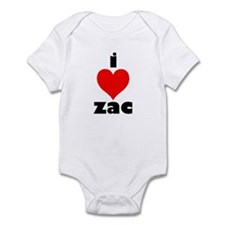 I Love Zac Infant Bodysuit