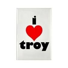 i love troy Rectangle Magnet (10 pack)
