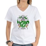 Lordelo Family Crest Women's V-Neck T-Shirt