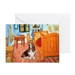 Van Gogh's Room & Basset Greeting Card