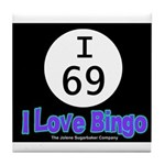 I 69 I Love Bingo Tile Coaster