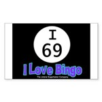I 69 I Love Bingo Rectangle Sticker