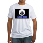 I 69 I Love Bingo Fitted T-Shirt