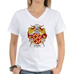 Limpo Family Crest Women's V-Neck T-Shirt