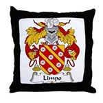 Limpo Family Crest Throw Pillow