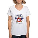 Lencastre Family Crest Women's V-Neck T-Shirt