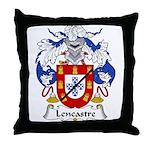Lencastre Family Crest Throw Pillow