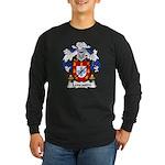 Lencastre Family Crest Long Sleeve Dark T-Shirt