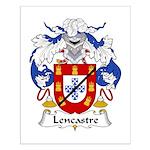 Lencastre Family Crest Small Poster