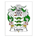Lagarto Family Crest Small Poster