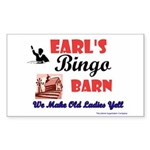 Earls Bingo Barn Rectangle Sticker