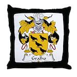 Gralho Family Crest Throw Pillow