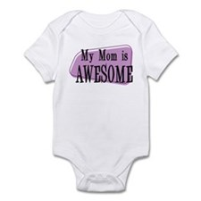 My Mom is Awesome Purple Infant Bodysuit