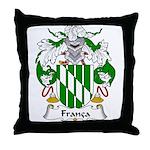 Franca Family Crest Throw Pillow