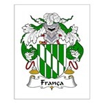 Franca Family Crest Small Poster