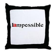 Iampossible Throw Pillow
