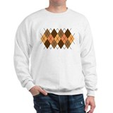 Chocolate Argyle Sweatshirt