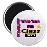 JTP Logo White Trash With Cla Magnet