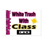 JTP Logo White Trash With Cla Postcards (Package o