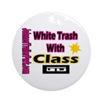 JTP Logo White Trash With Cla Ornament (Round)
