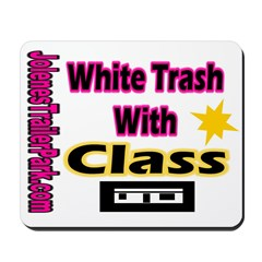 JTP Logo White Trash With Cla Mousepad