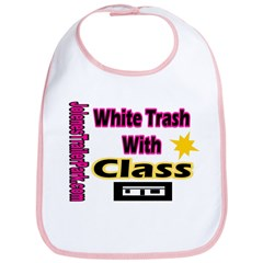 JTP Logo White Trash With Cla Bib